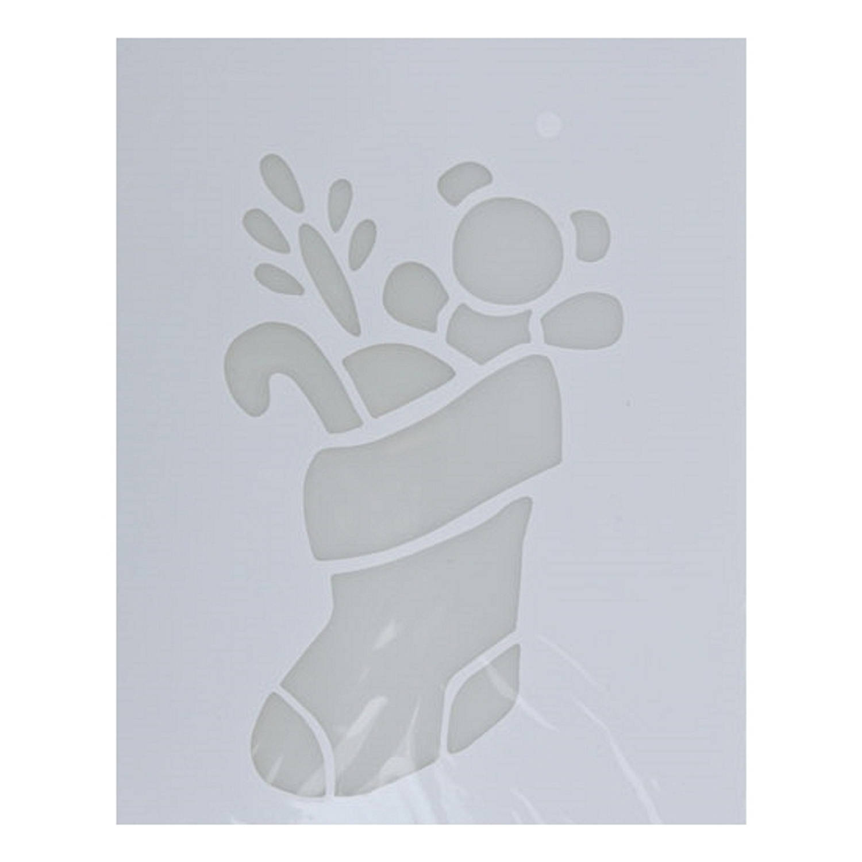 Korting Kerst Raamsjablonen Kerstsokken Plaatjes 35 Cm Raamdecoratie Kerst Sneeuwspray Sjabloon