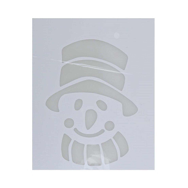 Korting Kerst Raamsjablonen Sneeuwpop Gezicht hoofd Plaatjes 35 Cm Raamdecoratie Kerst Sneeuwspray Sjabloon