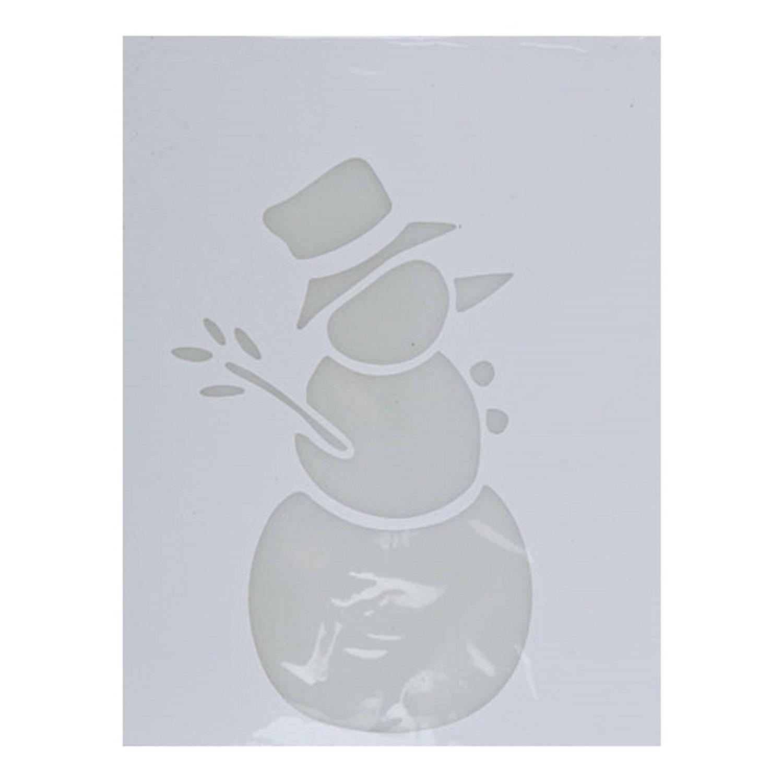 Korting Kerst Raamsjablonen Sneeuwpop Plaatjes 35 Cm Raamdecoratie Kerst Sneeuwspray Sjabloon