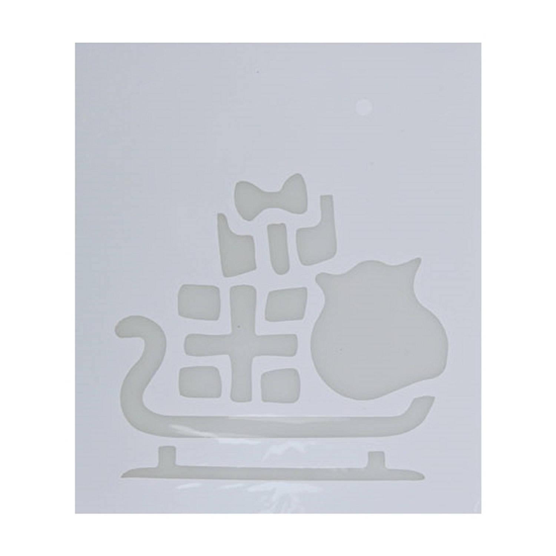 Korting Kerst Raamsjablonen Slee Plaatjes 35 Cm Raamdecoratie Kerst Sneeuwspray Sjabloon
