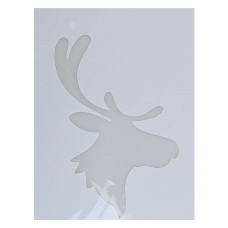 Korting Kerst Raamsjablonen Rendierhoofden Plaatjes 35 Cm Raamdecoratie Kerst Sneeuwspray Sjabloon
