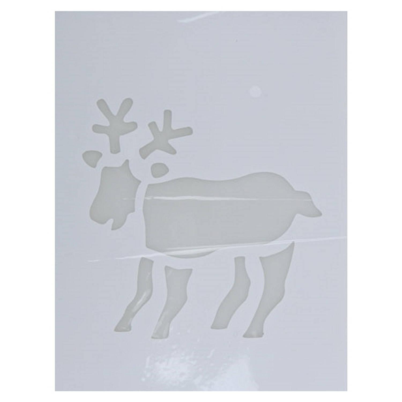 Korting Kerst Raamsjablonen Rendier Plaatjes 35 Cm Raamdecoratie Kerst Sneeuwspray Sjabloon