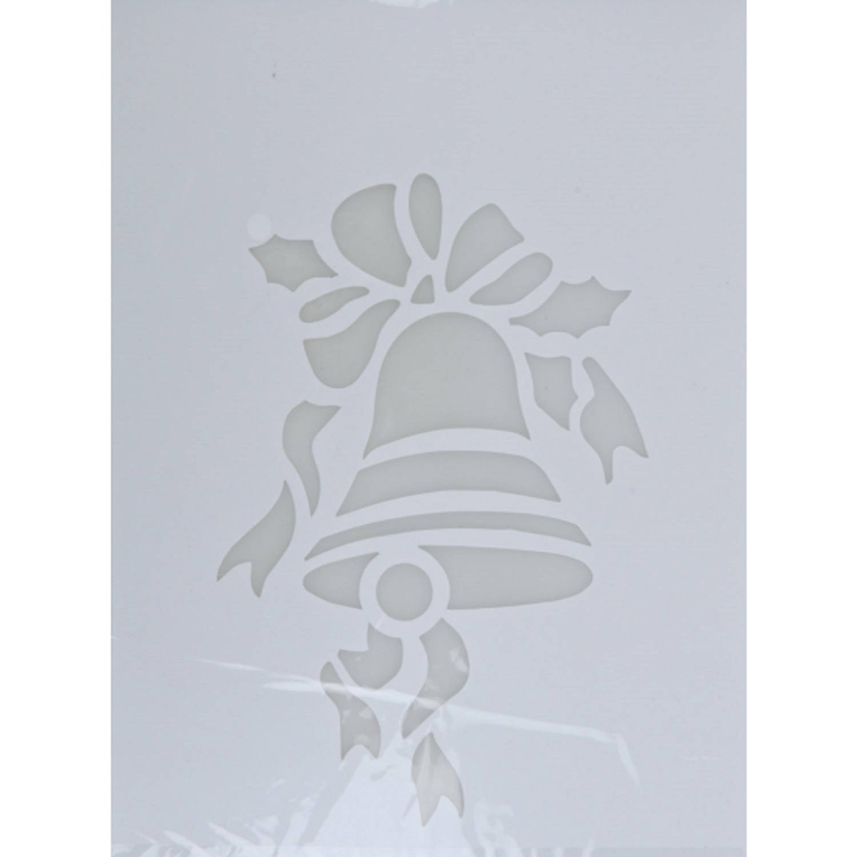 Korting Kerst Raamsjablonen Kerstbel Plaatjes 35 Cm Raamdecoratie Kerst Sneeuwspray Sjabloon