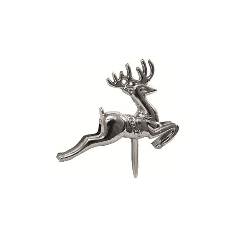 Korting 6x Stuks Zilveren Rendieren Op Stekers 5 Cm Kerststukjes
