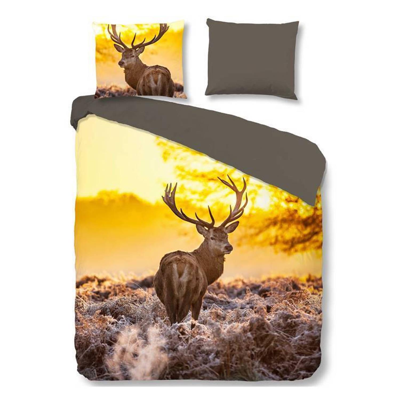 Good morning deer in sun dekbedovertrek - 1-persoons (140x200/220 cm + 1 sloop)