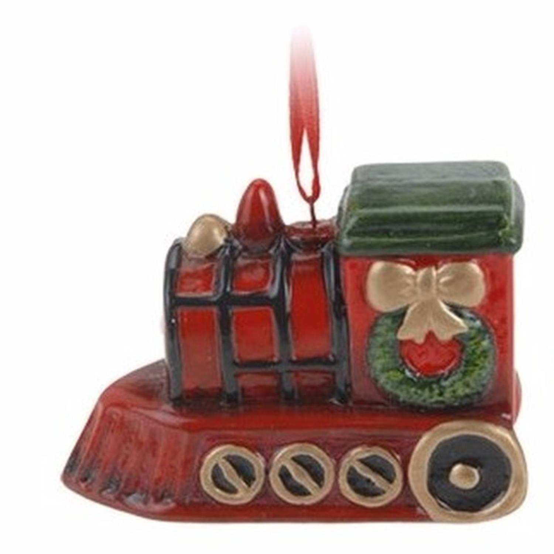 Kersthanger kerst trein 8 cm kerstboomhanger