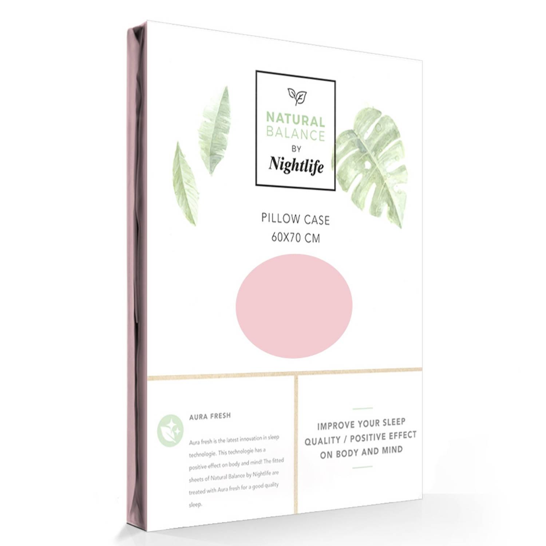Kussensloop katoen-satijn roze balance