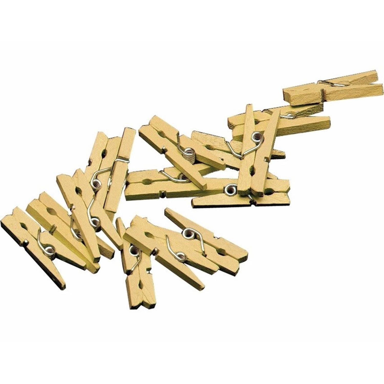 Korting 20x Mini Knijpertjes Goud 2 Cm Kleine Mini Knijpers