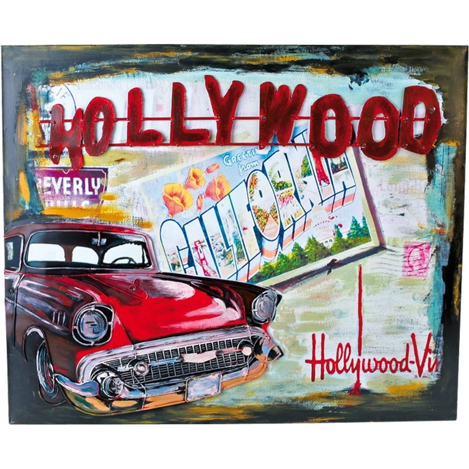 Small Foot vintage decoratie blikbord hollywood