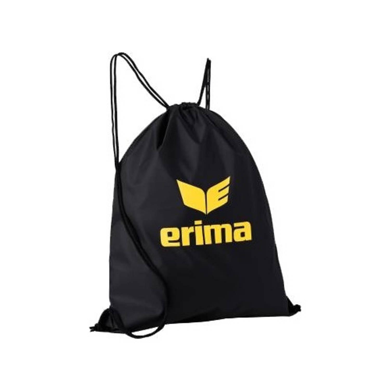 Image of Erima gymtas met rijgkoord club 5 zwart/geel