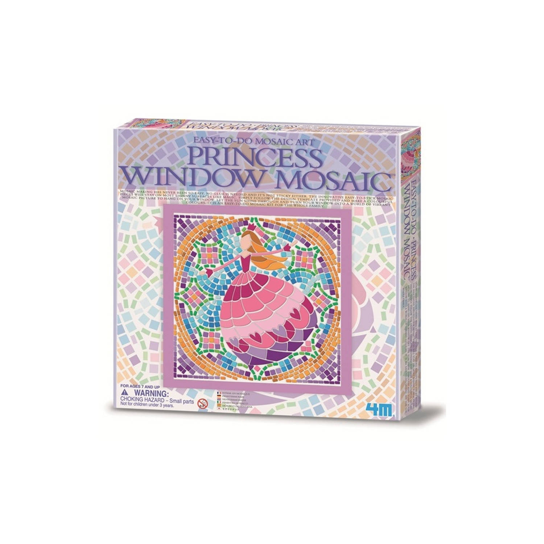 Afbeelding van 4m creatieve knutselset venstermozaïek: prinses paars