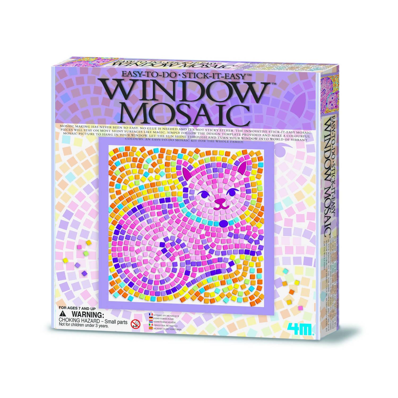 Afbeelding van 4m crea venstermozaïek natuur: paarse kat