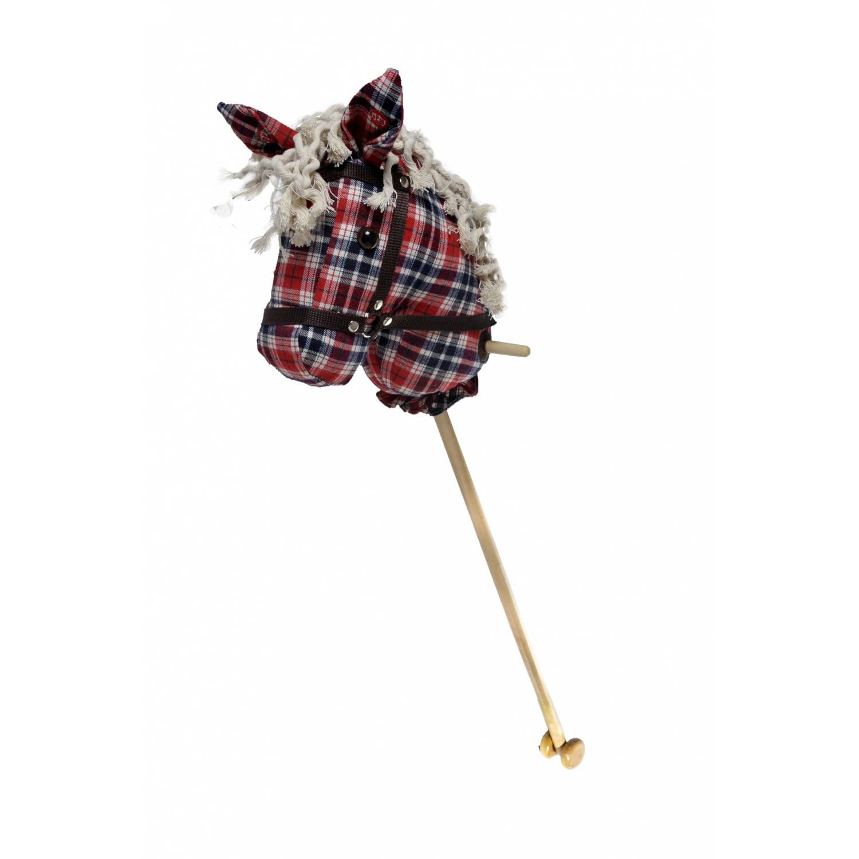 Afbeelding van Angel toys stokpaardje met geluid schotse ruit