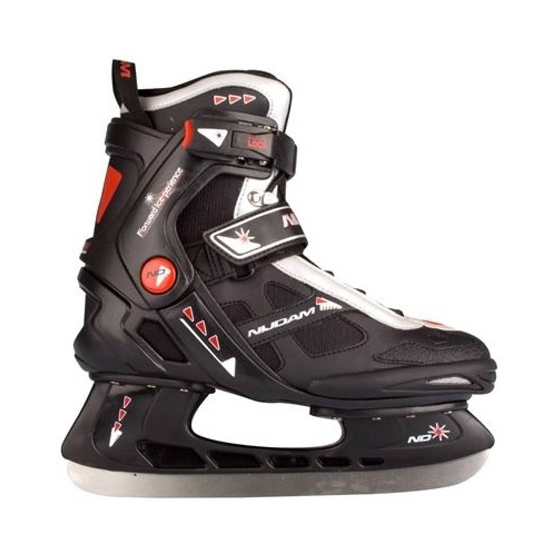 Nijdam ijshockeyschaatsen semi softboot zwart/rood maat 40