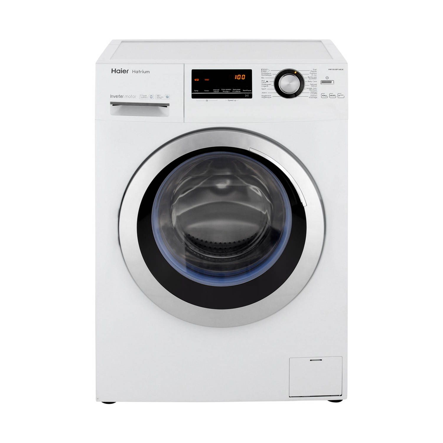 Haier HW100-BP14636 wasmachines - Wit