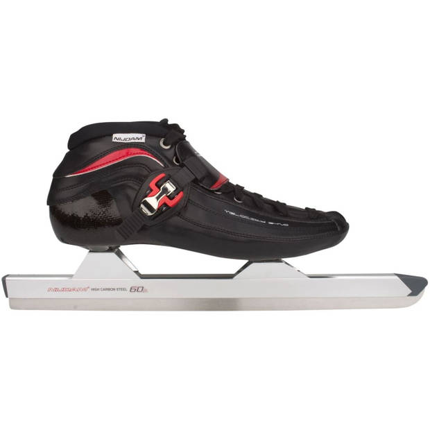 Nijdam noren schaatsen carbon laag model maat 47 zwart / rood