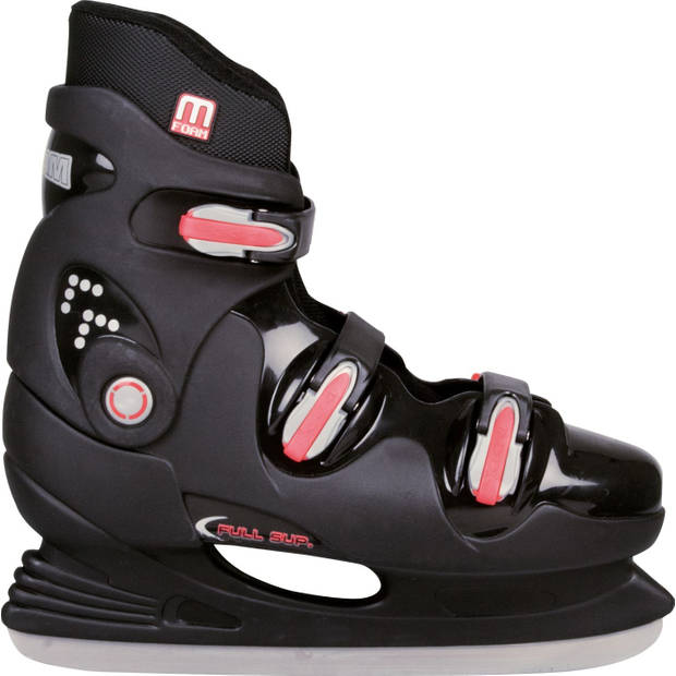Nijdam ijshockeyschaatsen hardboot unisex zwart/rood maat 37