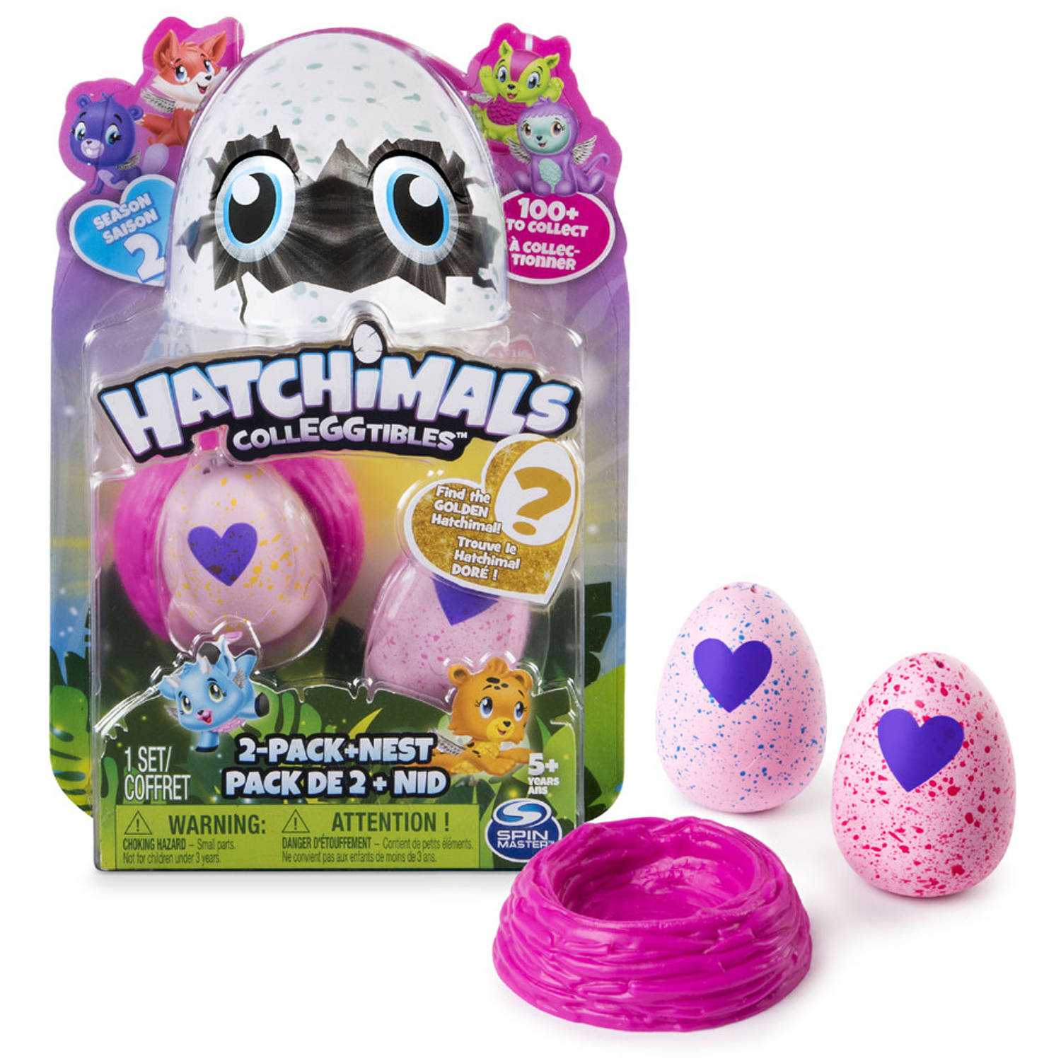 hatchimals colleggtibles season 2 2 pack met nest
