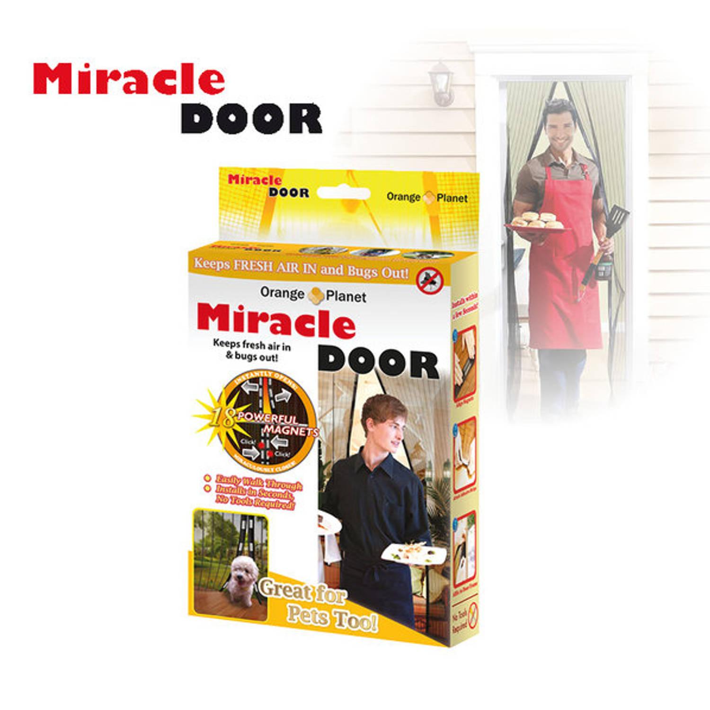 Vliegengordijn Met Magneten.Miracle Door Magnetisch Vliegengordijn