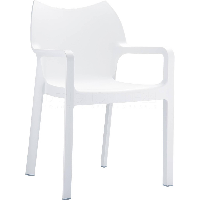 Image of 24Designs Tuinstoel Diva - Stapelbaar - Wit
