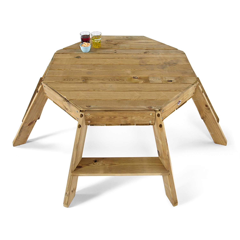 Speeltafel Met Opbergruimte.Speeltafel Octangle Plum Hout Blokker