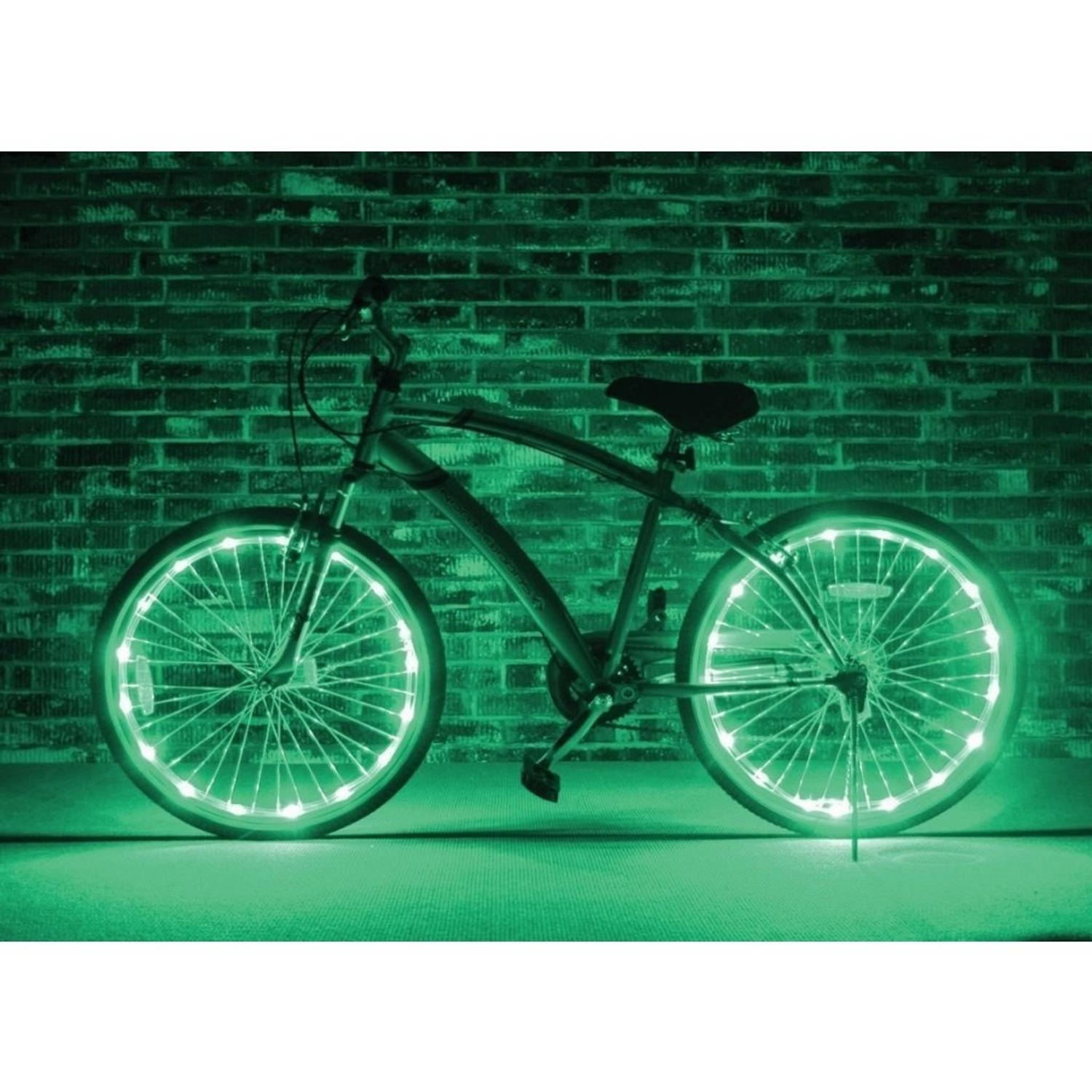 johntoy wielverlichting wheels of light groen 2 stuks