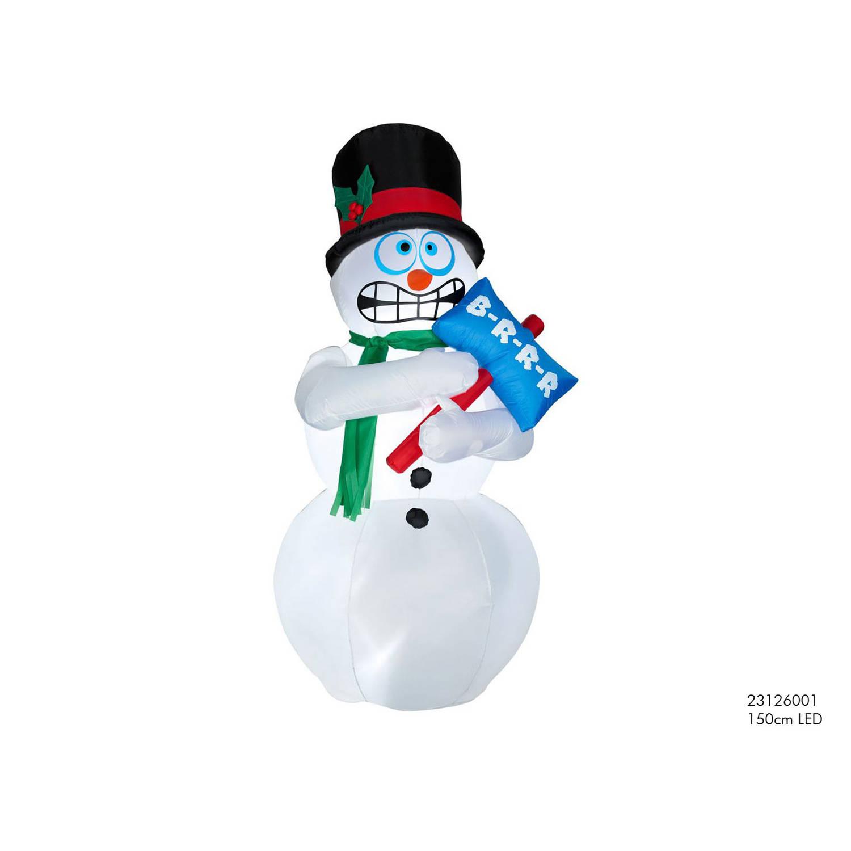 Sneeuwpop opblaasbaar 180cm LED Kerstartikelen