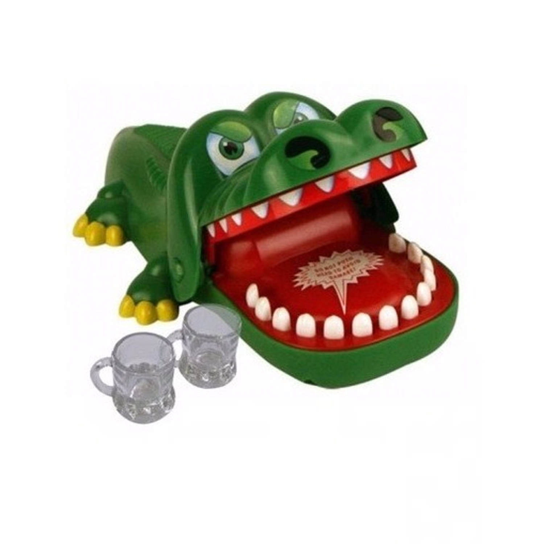 Krokodil drankspel met 6 shotglaasjes
