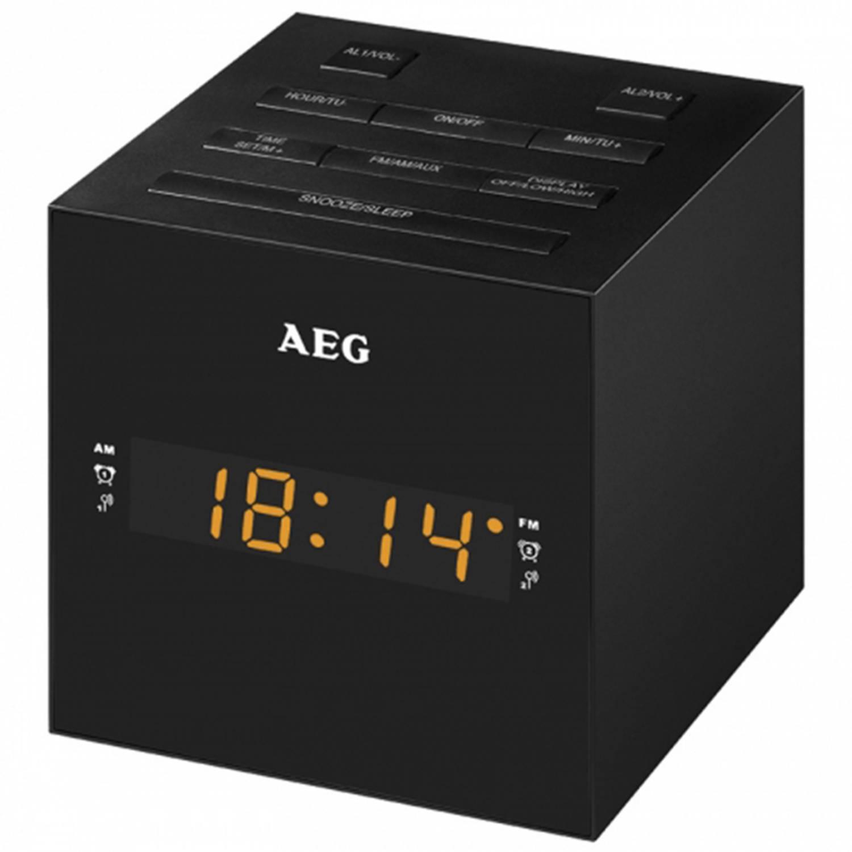 Aeg wekkerradio met usb-aansluiting zwart mrc 4150