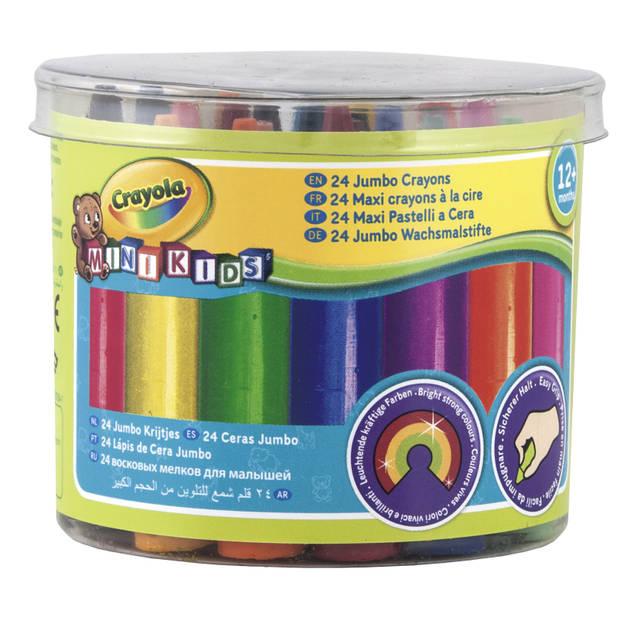 Crayola mini kids: dikke waskrijtjes 24 stuks