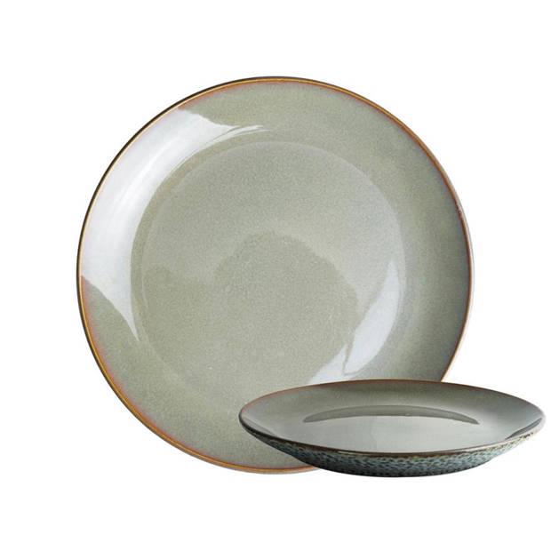Herman den Blijker ontbijtbord - egaal - Ø 20 x 2.5 cm - lichtgrijs