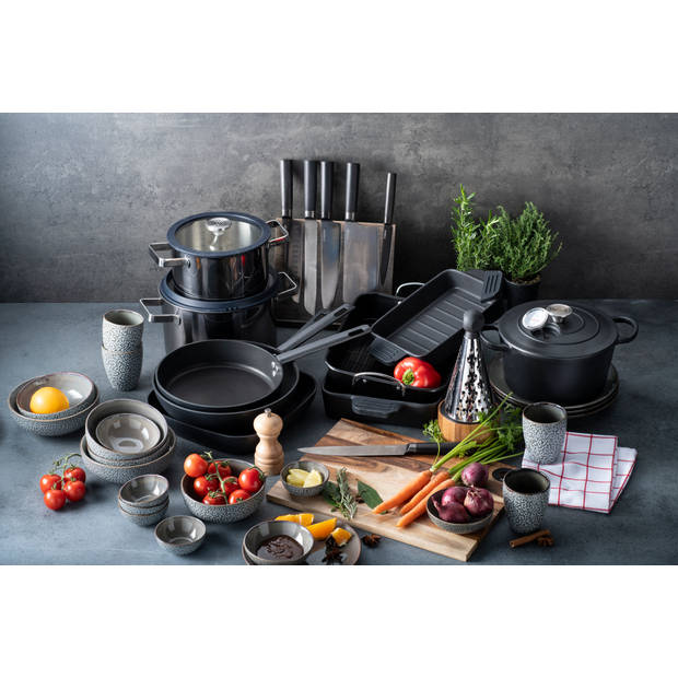 Herman den Blijker ovenschaal - 24 x 18 cm - mat zwart