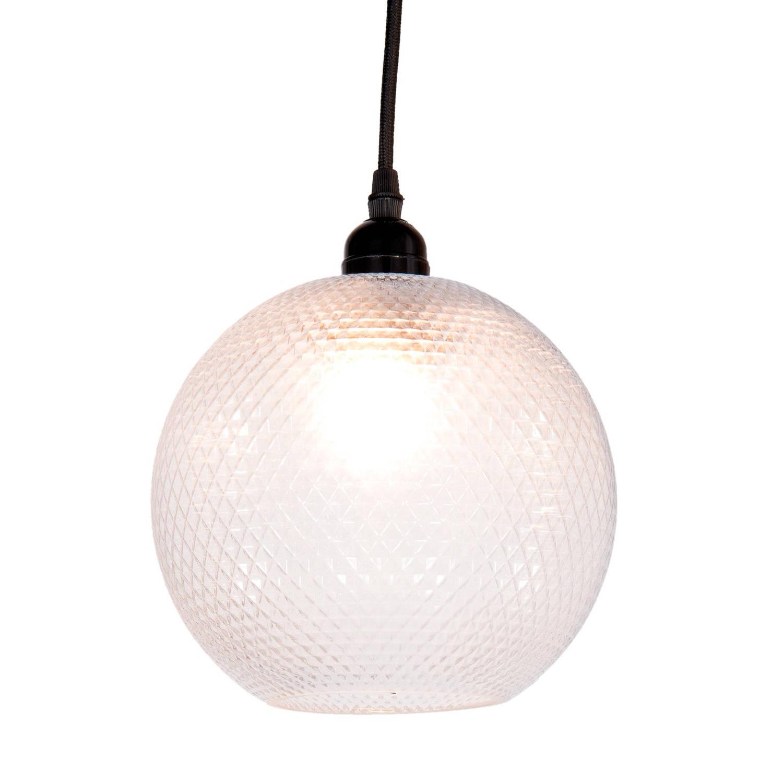 Clayre & eef hanglamp ø 20x23 cm e27 - transparant - glas