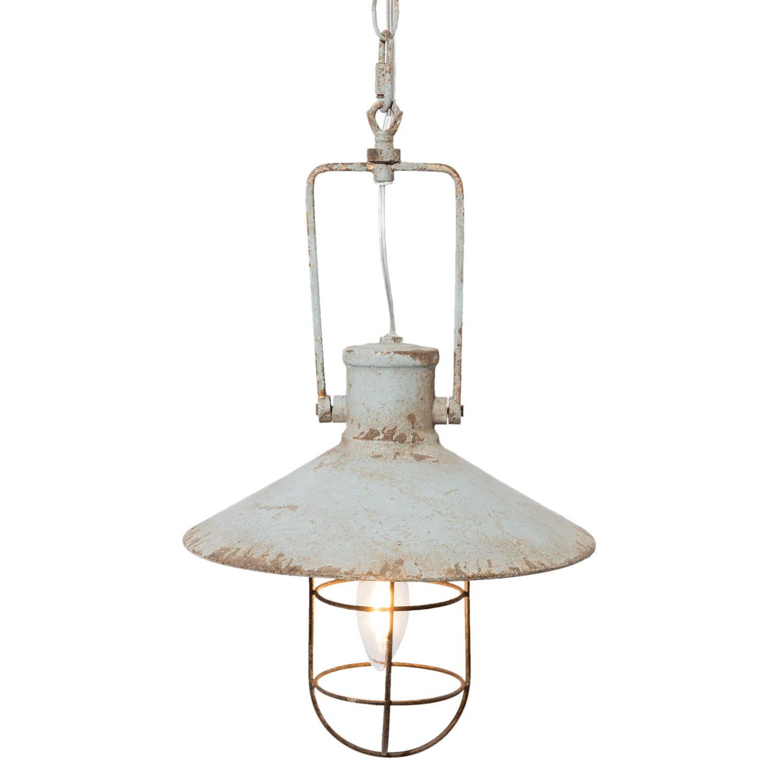 Clayre & eef hanglamp ø 27x44 cm / e14 / max. 1x25watt - grijs - ijzer