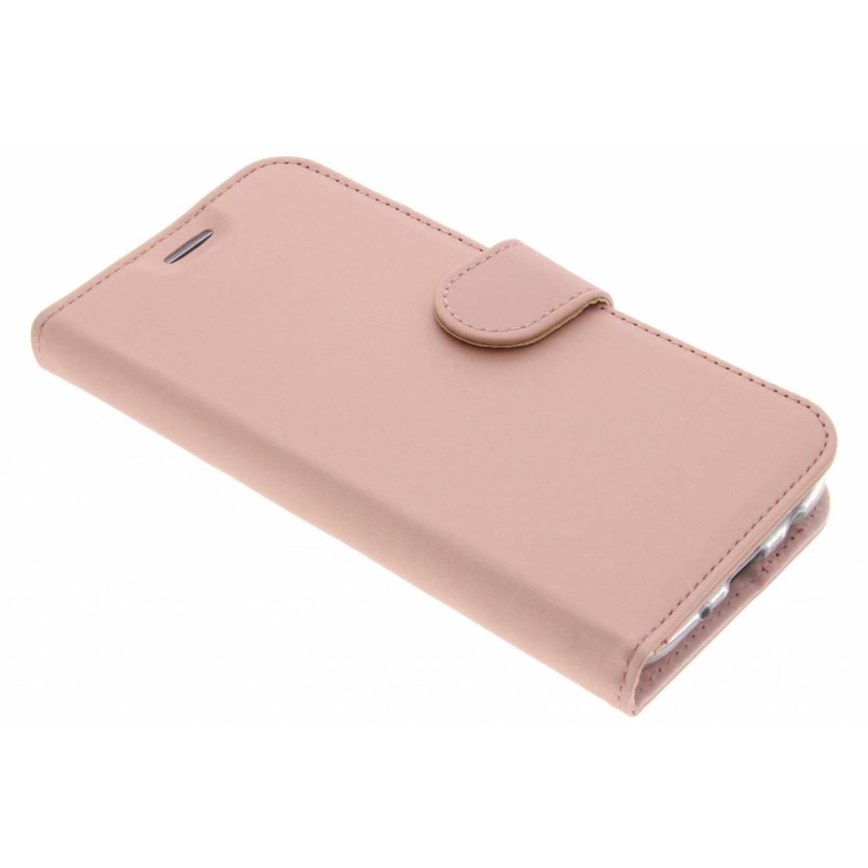 Rosé Gouden Wallet TPU Booklet voor de Samsung Galaxy J5 (2017)