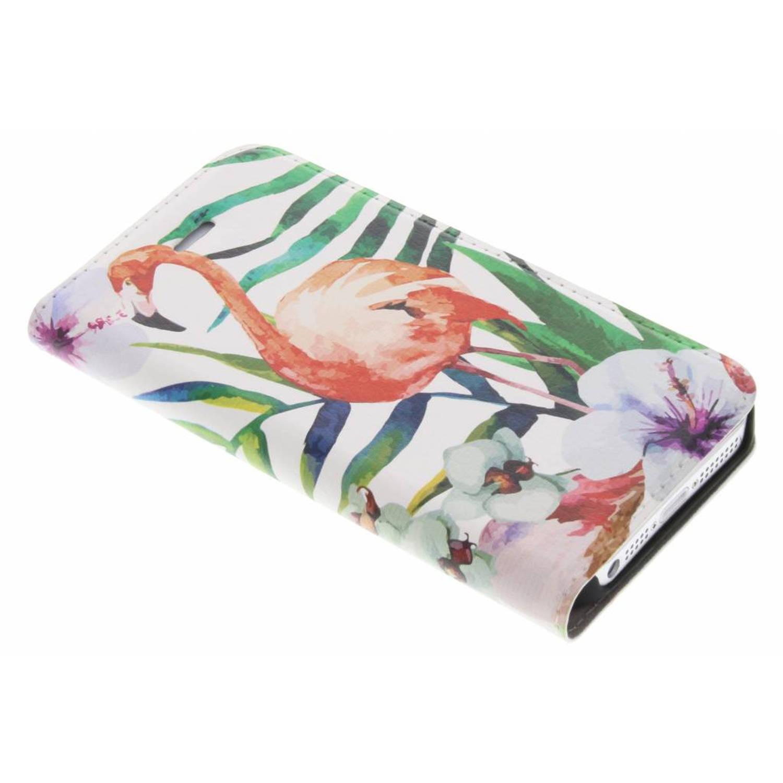Flamingo Design Booklet voor de iPhone 5 / 5s / SE