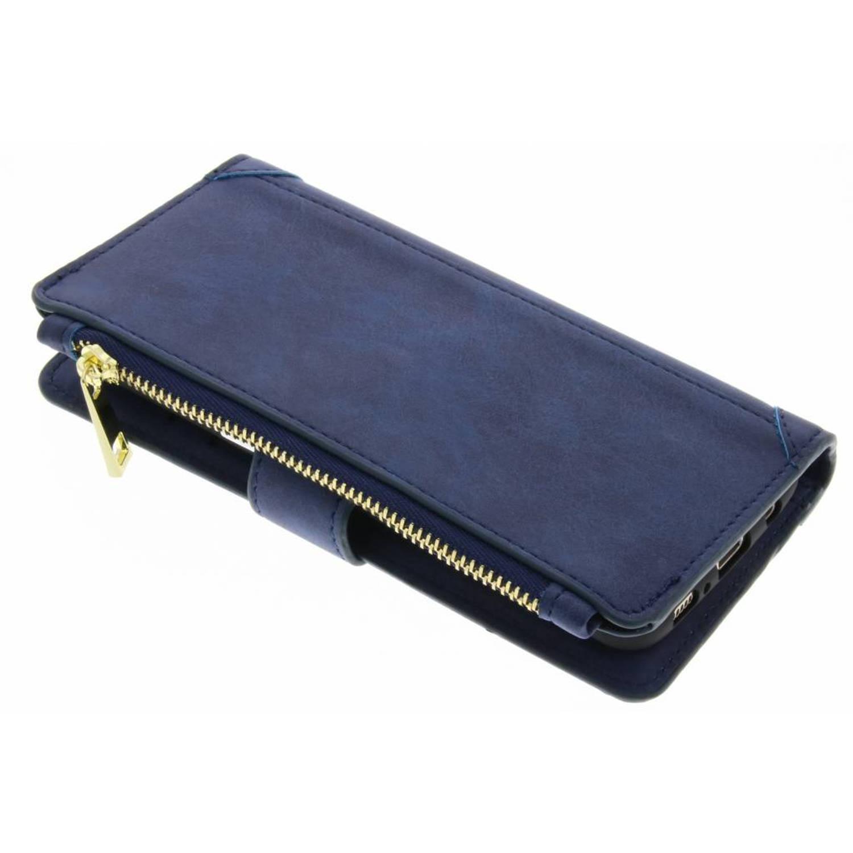 Blauwe luxe portemonnee hoes voor de samsung galaxy s8 plus