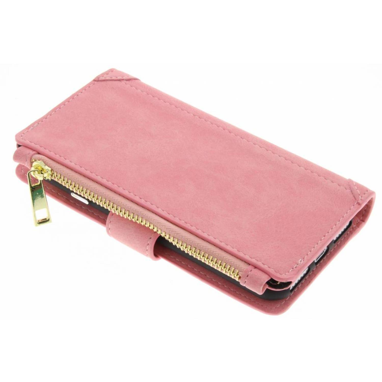 Roze luxe portemonnee hoes voor de iPhone 8 / 7