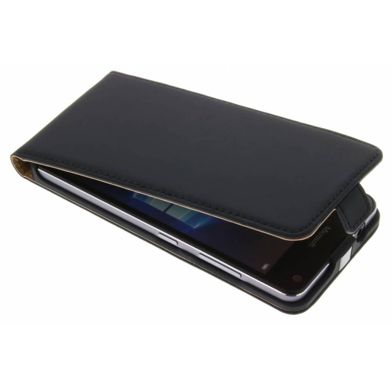 Luxe flipcase voor de microsoft lumia 650 - zwart