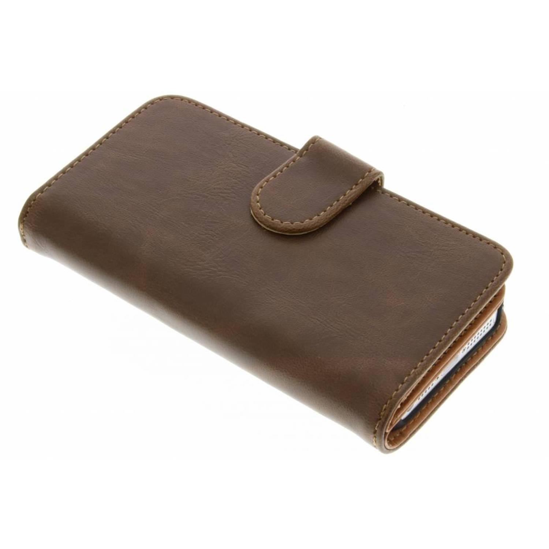 Bruine 11-vaks wallet case voor de iPhone 5-5s-SE