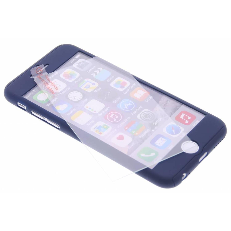 Donkerblauwe 360° effen protect case voor de iPhone 6 / 6s