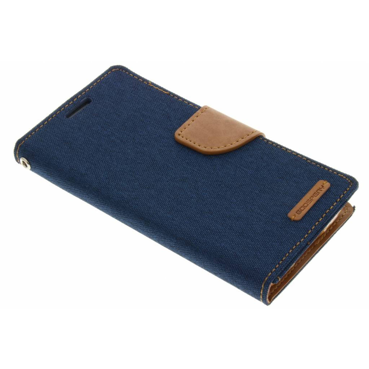 Canvas Diary Case voor de Samsung Galaxy S5 (Plus) / Neo - Blauw
