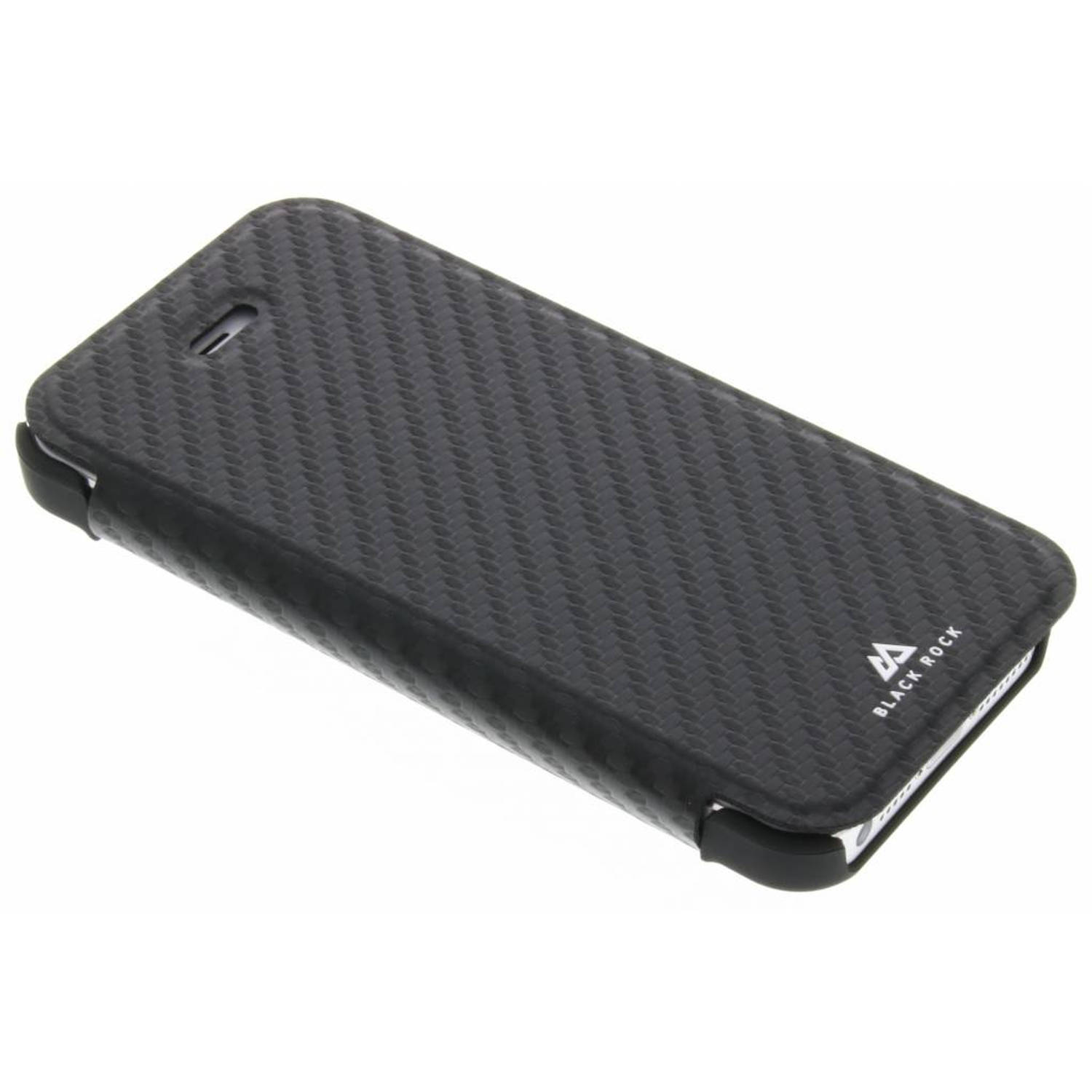 Flex Carbon Booklet Case voor de iPhone 5 / 5s / SE - Zwart