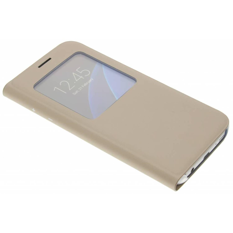 gouden originele S View Cover voor de Galaxy S7