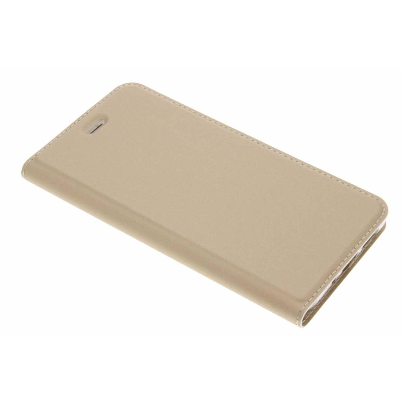 Gouden Slim TPU Booklet voor de Huawei P10 Lite