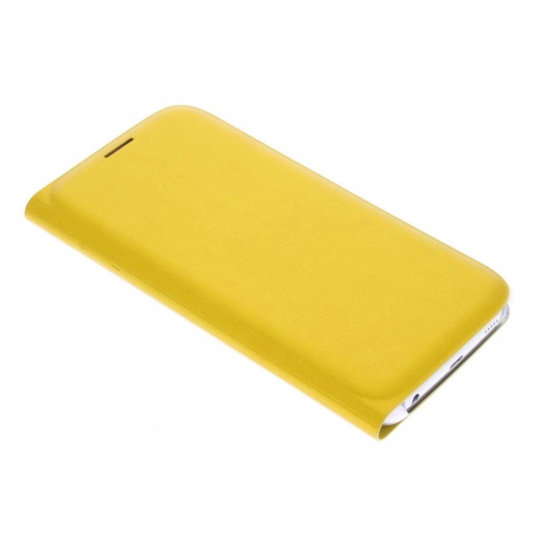 originele Flip Wallet voor de Galaxy S6 - Okergeel