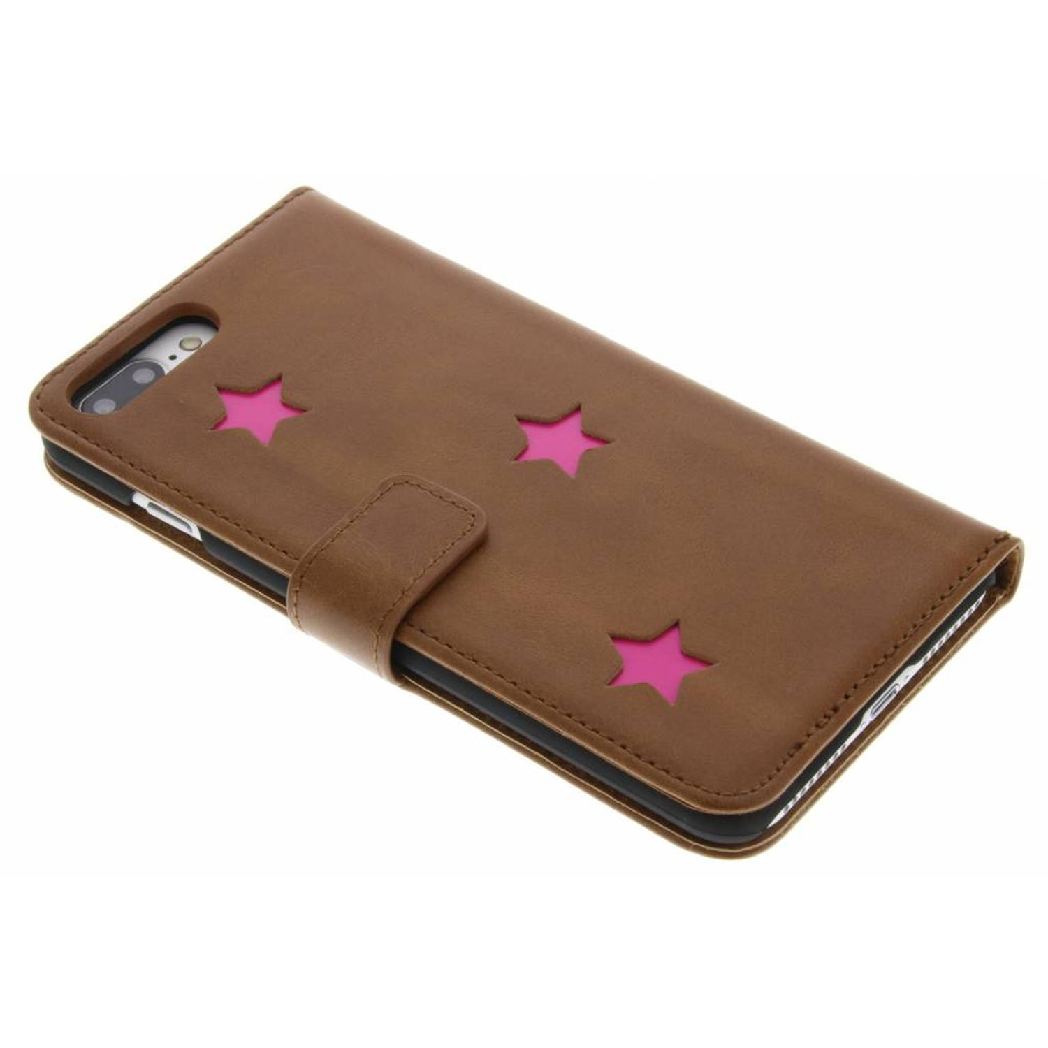 Pink Reversed Star Booktype hoes voor de iPhone 8 Plus / 7 Plus