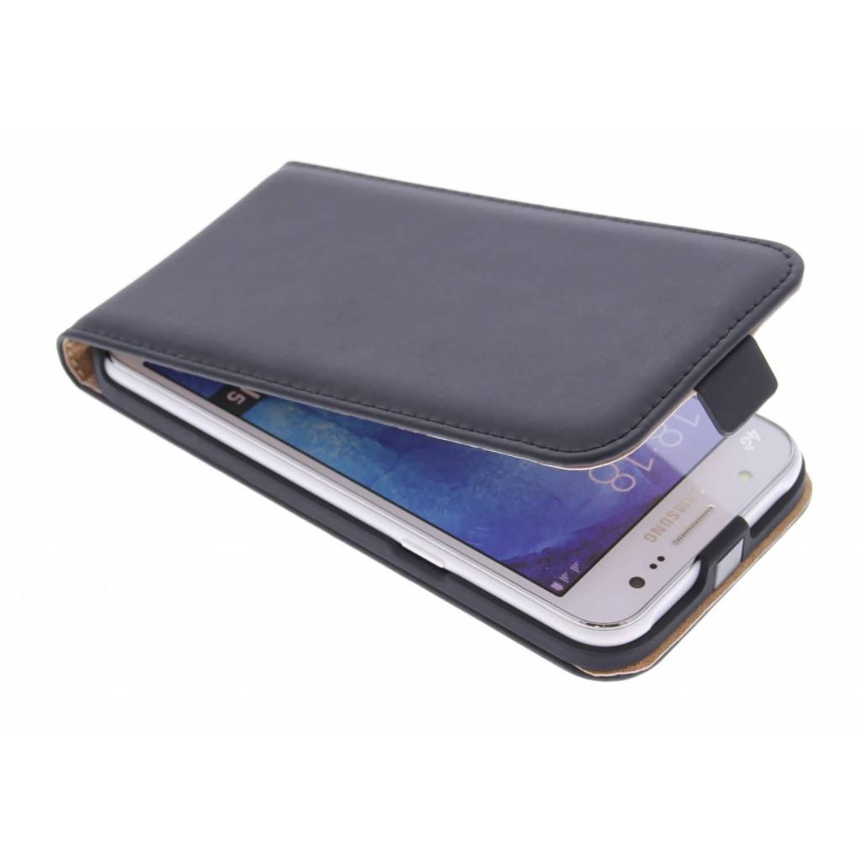 Zwarte Luxe Flipcase voor de Samsung Galaxy J5