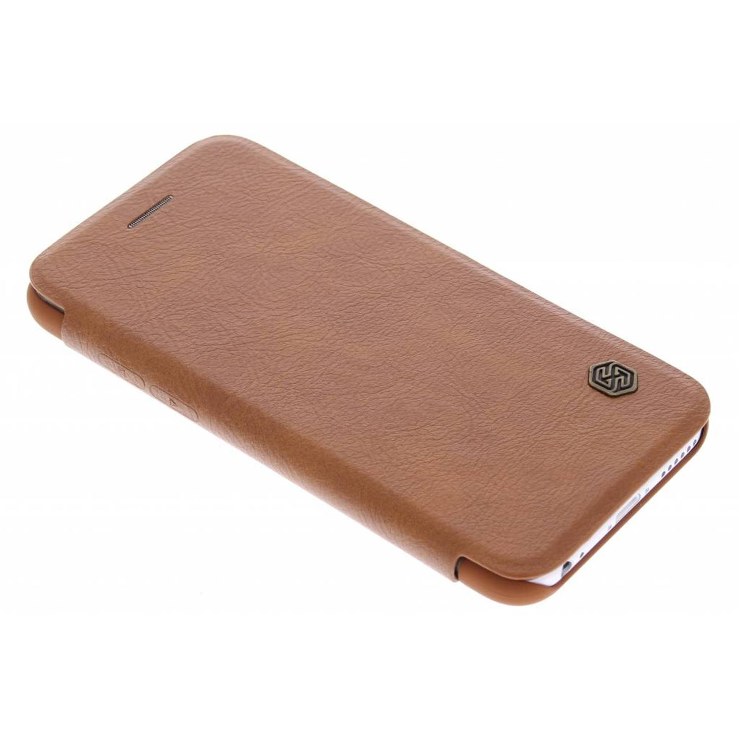 Bruine Qin Leather slim booktype hoes voor de iPhone 6 / 6s