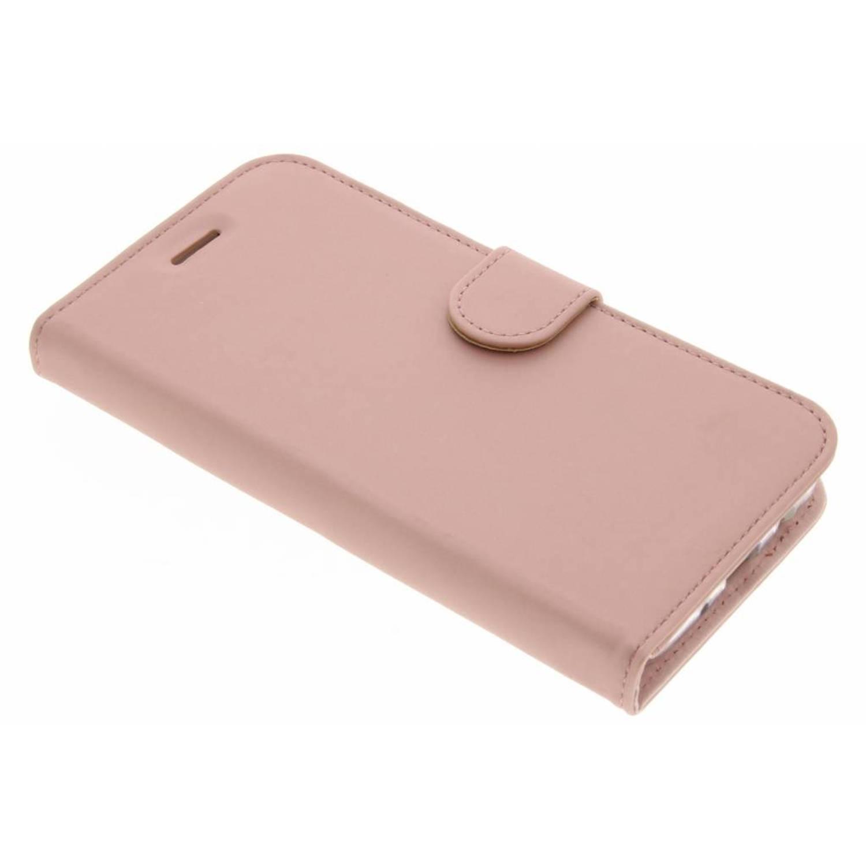 Rosé Gouden Wallet TPU Booklet voor de Samsung Galaxy J7 (2017)